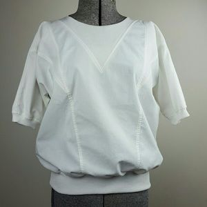 Vintage White Dolman Top